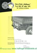 technical data sheet of the Haflinger towing hitch
